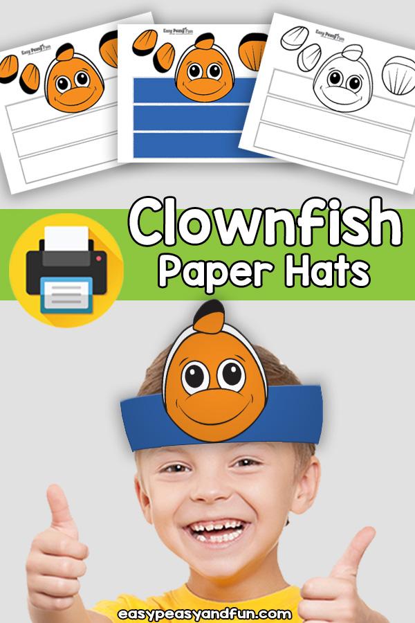 Clownfish Paper Hat Template