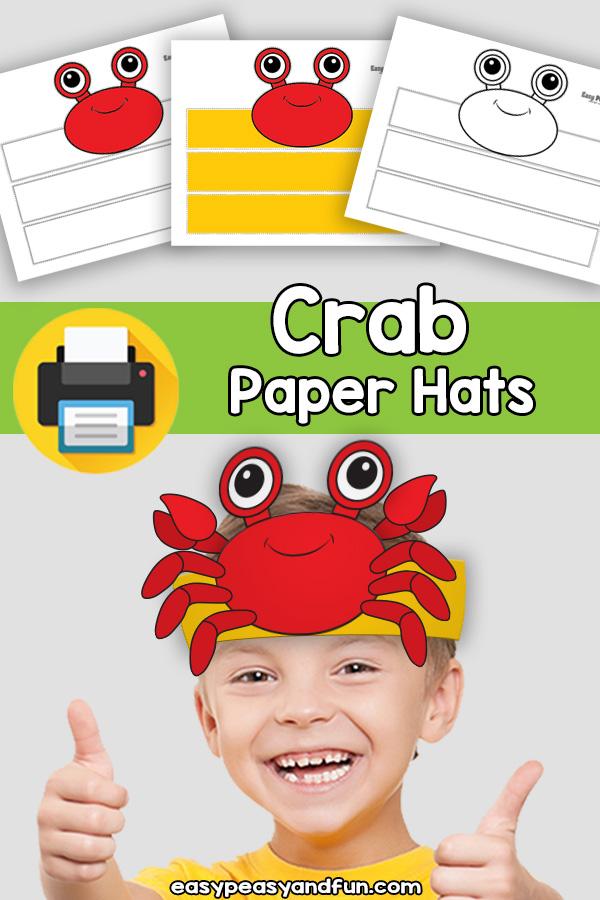 Crab Paper Hat Template