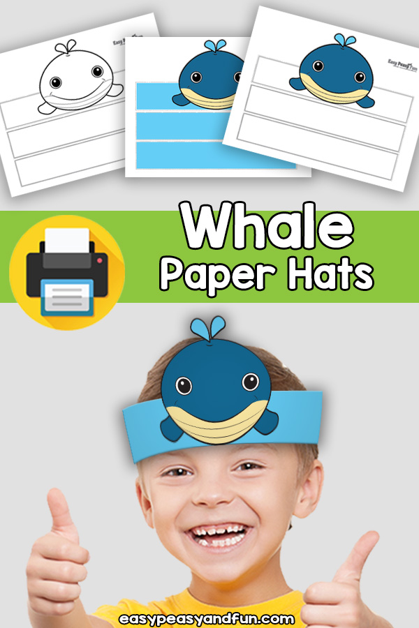 Whale Paper Hat Template