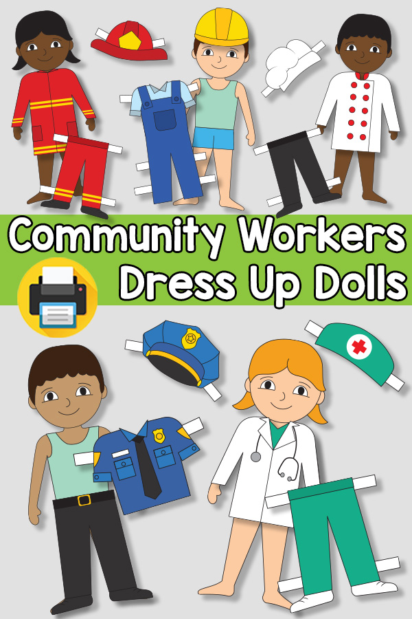 Community Workers Dress Up Dolls for Kids