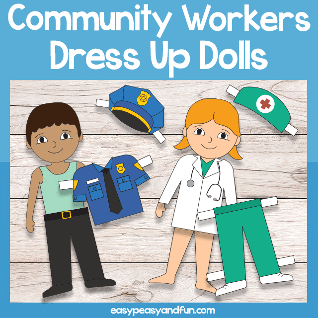 Community Workers Dress Up Dolls