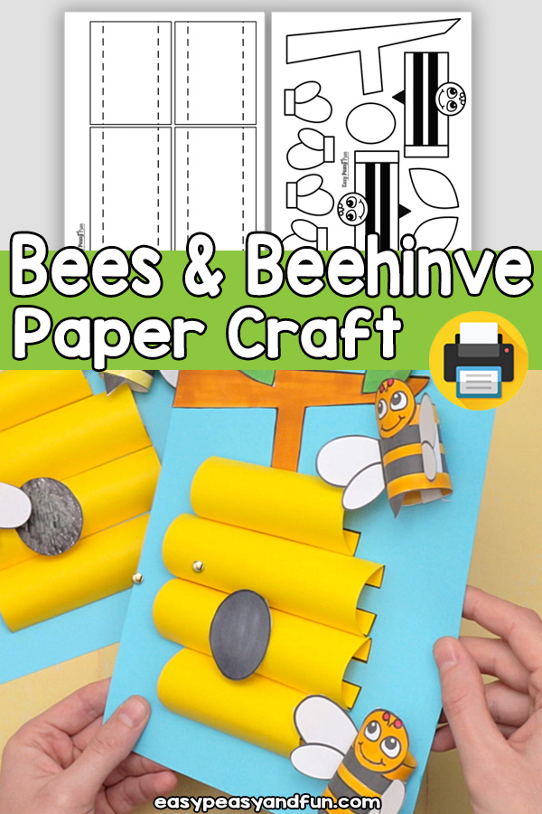 Bees and Beehive Craft Template