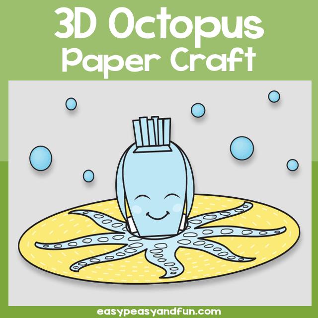 3D Octopus Paper Craft