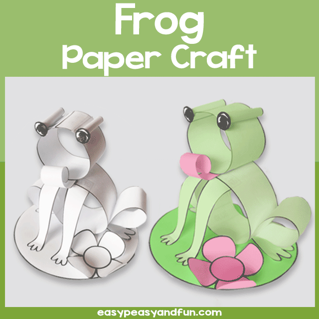 Frog Craft Made with Paper Strip