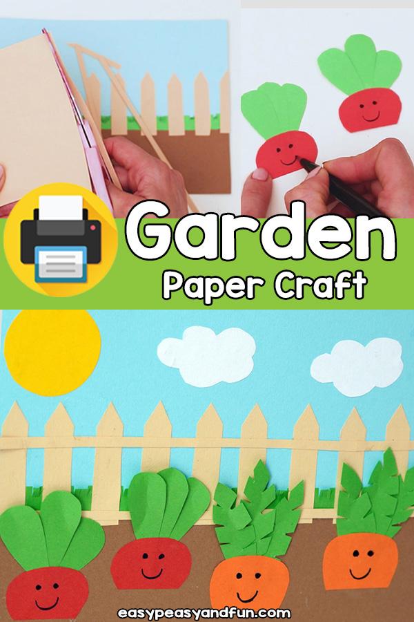 Paper Garden Craft Template