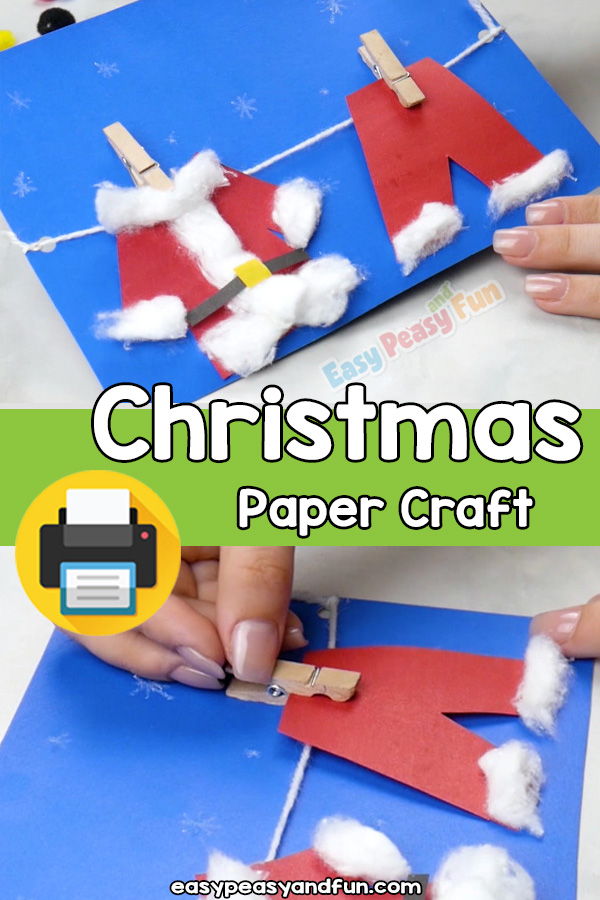 Easy Christmas Paper Craft Template