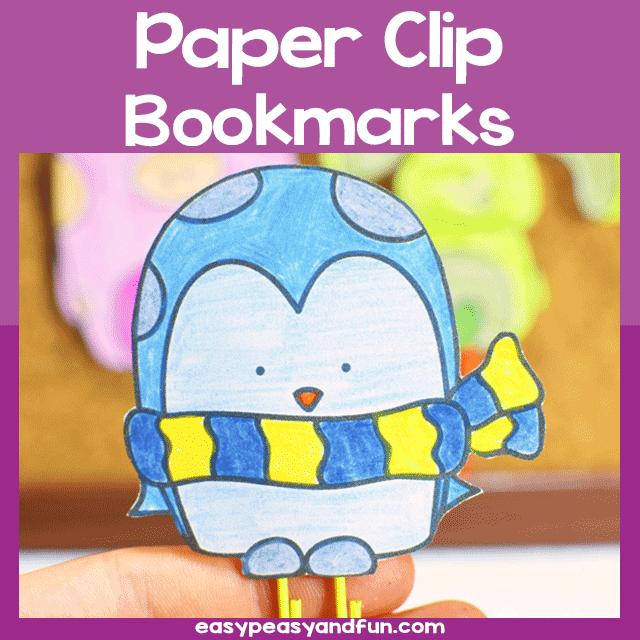 Printable DIY Paper Clip Bookmarks