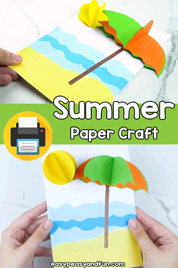Summer Paper Craft Template