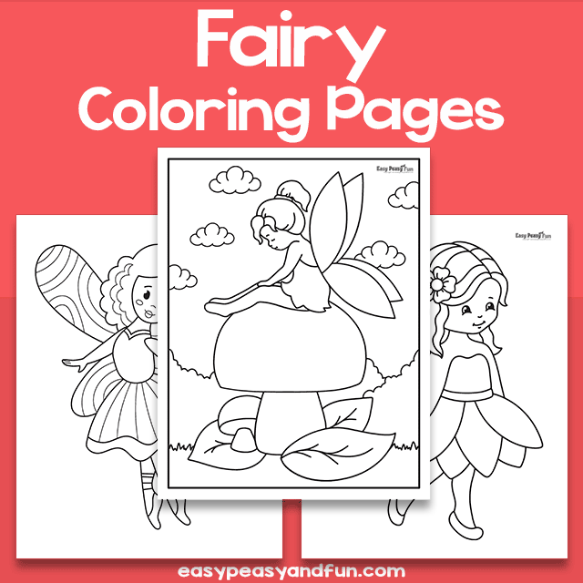 Fairy Coloring Sheets