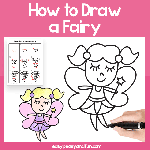 Fairy Guided Drawing Printable