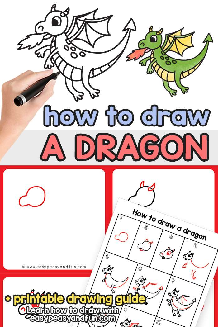 How to Draw a Dragon Step by Step Tutorial