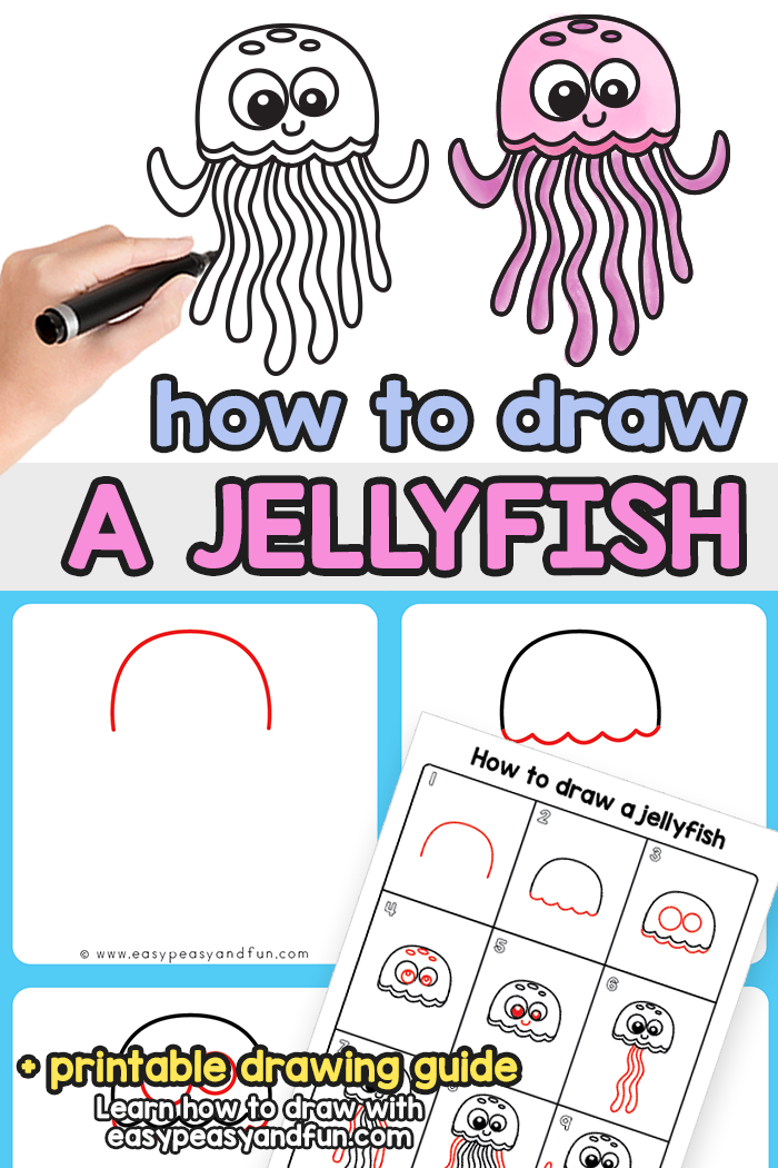 How to Draw a Jellyfish Step by Step Tutorial