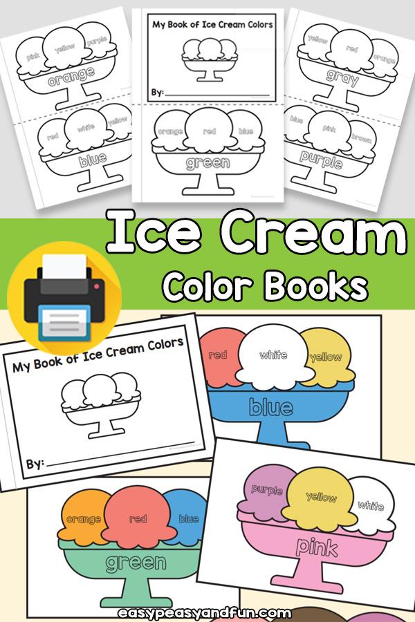 Ice Cream Color Books