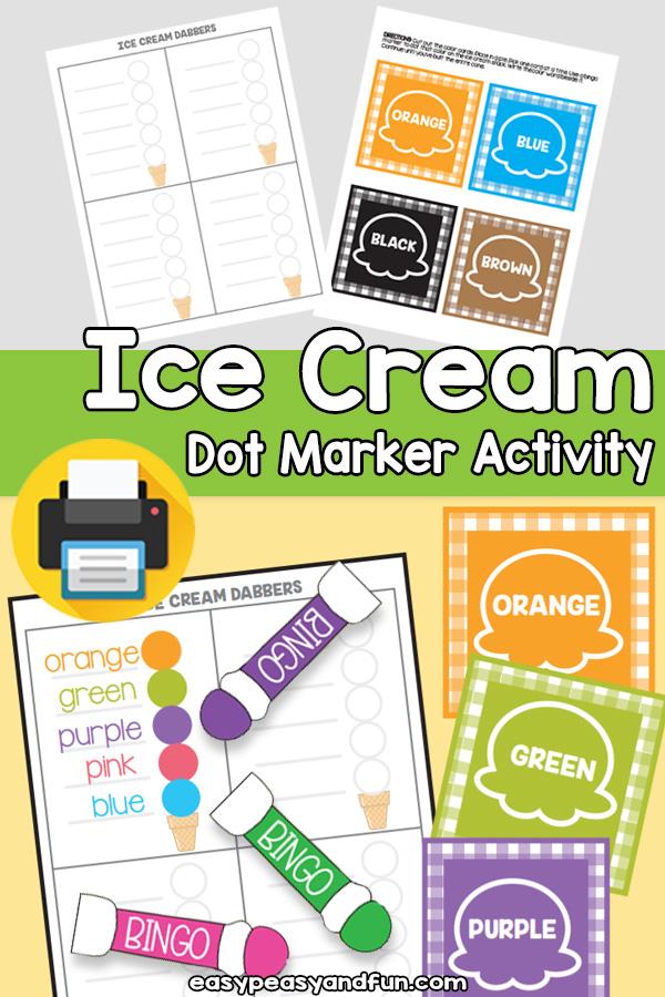 Ice Cream Dot Marker Activity