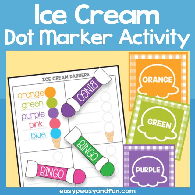 Printable Ice Cream Dot Marker Activity