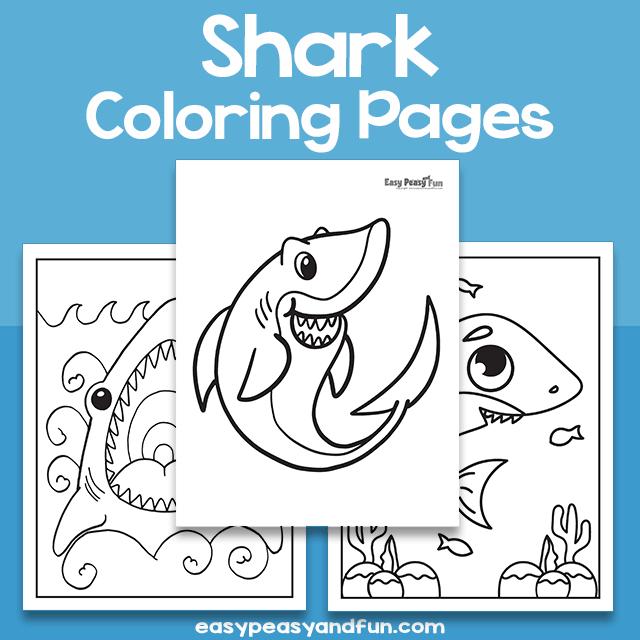 Shark Coloring Sheets