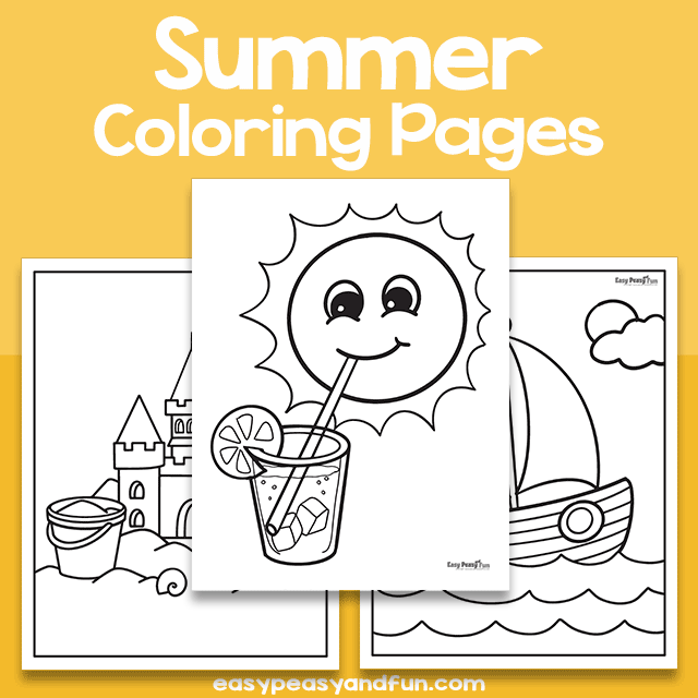 Summer Coloring Pages