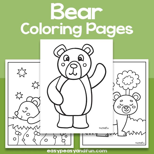 Bear Coloring Sheets