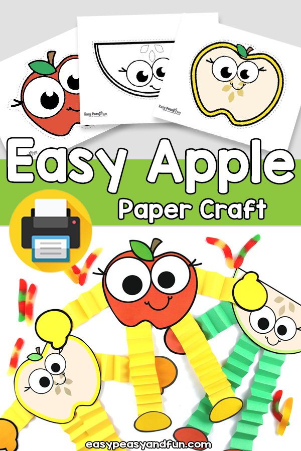 Easy Apple Craft Template