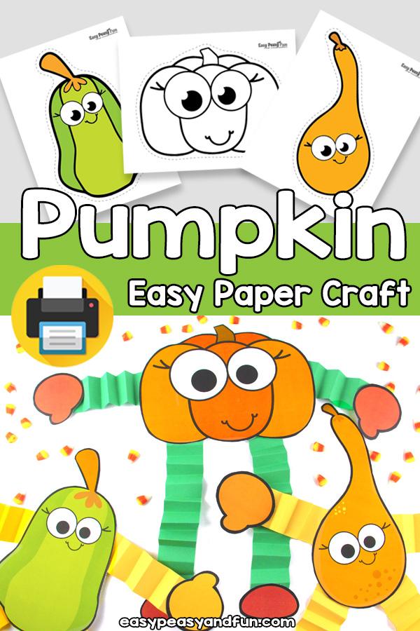 Easy Pumpkin Craft Template