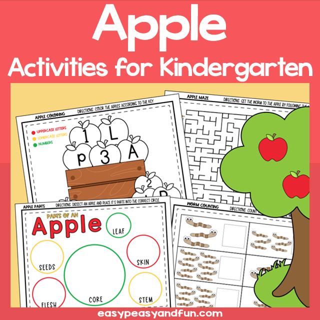Printable Apple Activities for Kindergarten