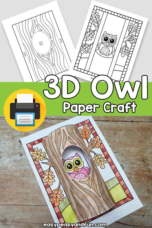 3D Owl Paper Craft
