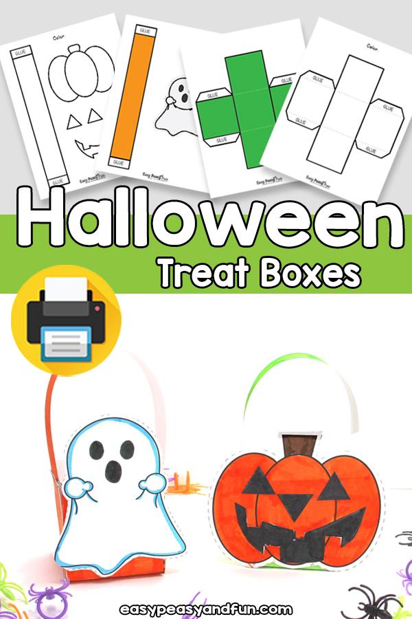 Printable Halloween Treat Boxes