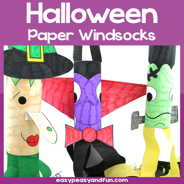 Printable Halloween Windsocks Template