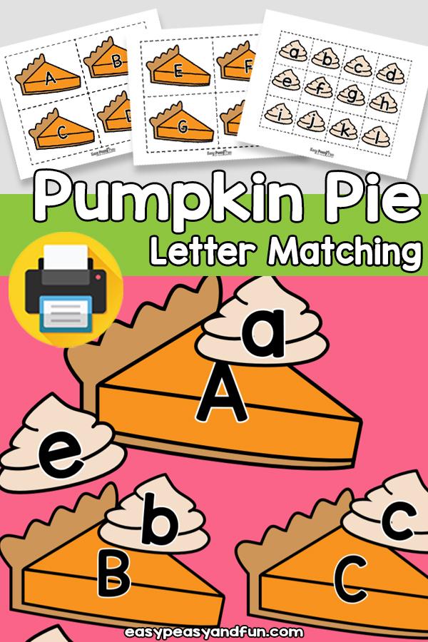 Pumpkin Pie Letter Matching Activity