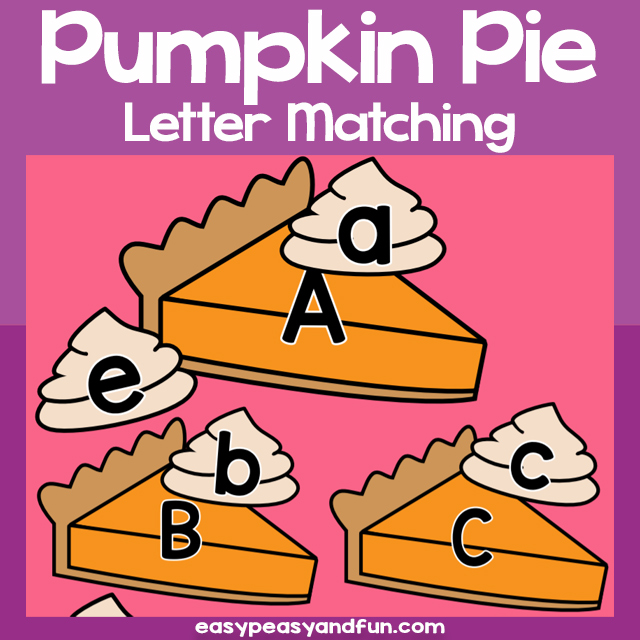 Pumpkin Pie Letter Matching