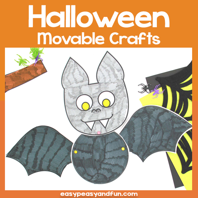 Simple Movable Halloween Crafts Template